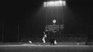 Sandy Koufax retired Chris Krug for the first out of the ninth inning during his perfect game on September 9, 1965.